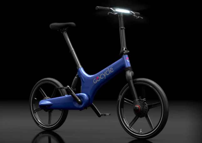 GoCycle G3 in blue