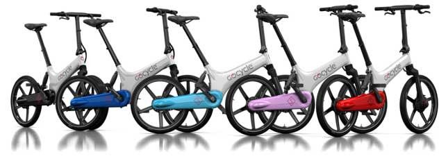 GoCycle GS White Frame Colour Combinations