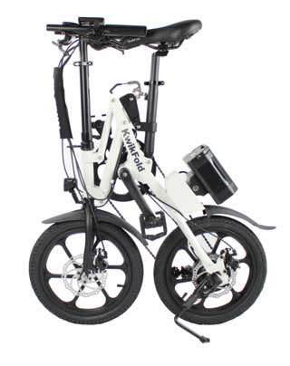 The Raleigh Kwickfold Xite 3 folded