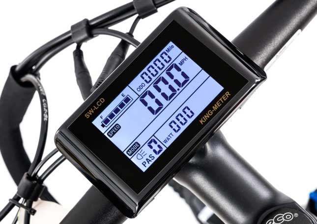 King-Meter SW-LCD Display fitted to Roodog Avatar and Striker eBikes