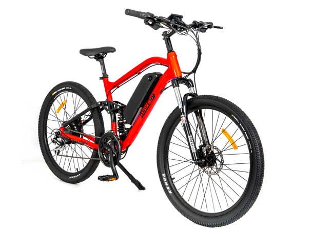 New RooDog Striker for 2019 with rear suspension, same striking red frame
