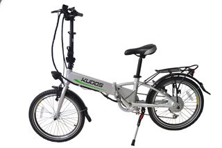 Kudos Secret Folding eBike with silver frame