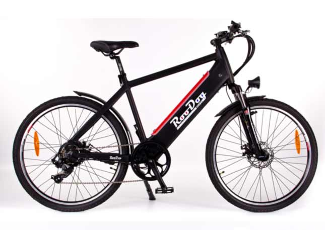 Roodog Avatar SO a great looking eBike with the battery hidden in the frame shown here in black