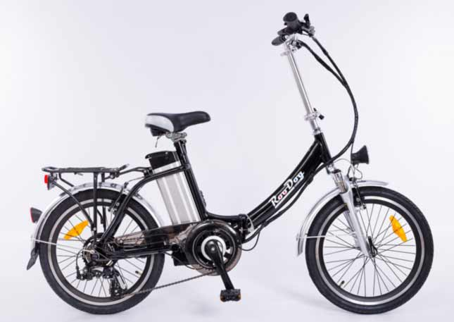 Roodog Bliss the foldable eBike that fits in the boot of the car or under the stairs