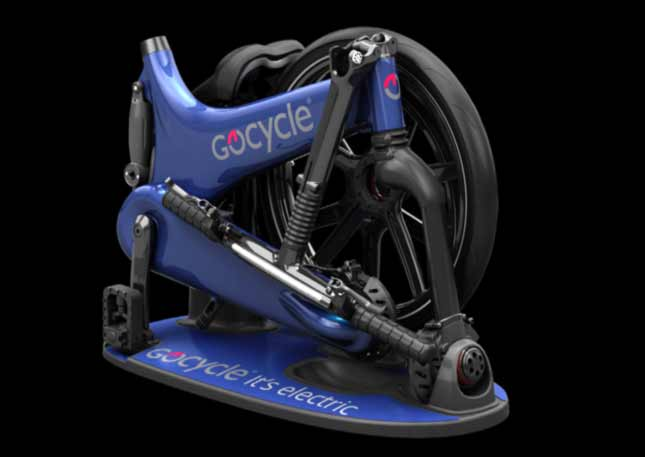 Blue GoCycle compacted