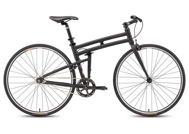 Montague Boston eBike with unique folding frame