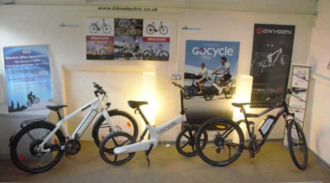 bike electric showroom showing , gocycle and oxygen eBikes